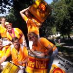 Pura Vida, Sambatrommeln beim Schongau-Triathlon