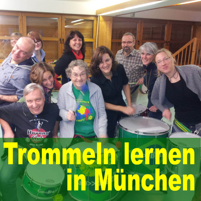 Trommeln lernen in München bei Go-Brazil