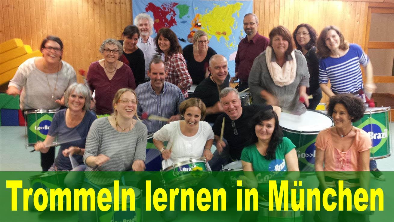 Bei Go>>Brazil lernst du trommeln in München