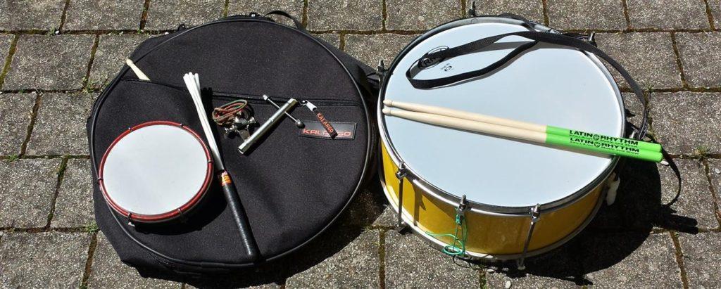 Samba-Auftritts-Packliste Instrument