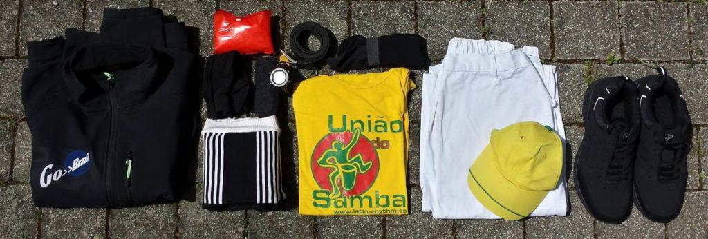 Samba-Auftritts-Packliste Kleidung