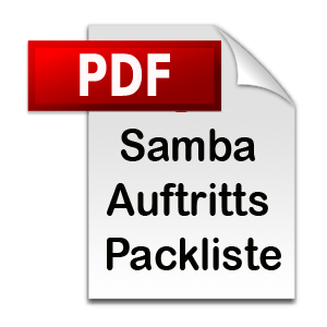 pdf download Samba Auftritts Packliste