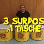 3 Surdos in 1 Tasche verpacken